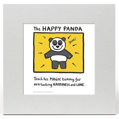 House Additions Edward Monkton Happy Panda Art Print