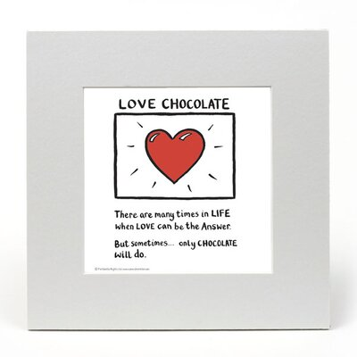 House Additions Edward Monkton Love Chocolate Art Print