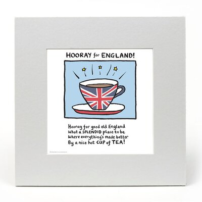House Additions Edward Monkton Hooray for England Art Print