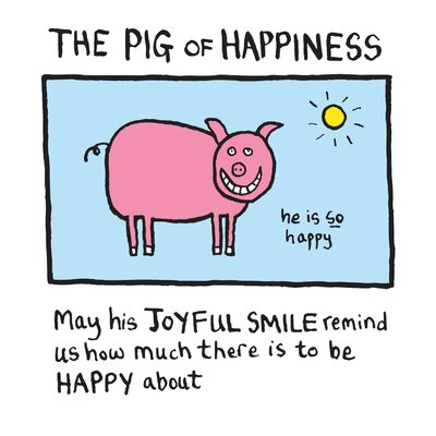 House Additions Edward Monkton Pig of Happiness Art Print