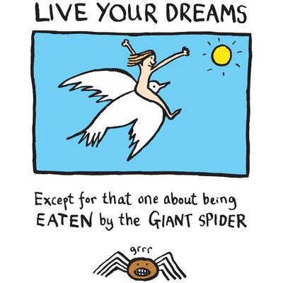 House Additions Edward Monkton Live Your Dreams Art Print