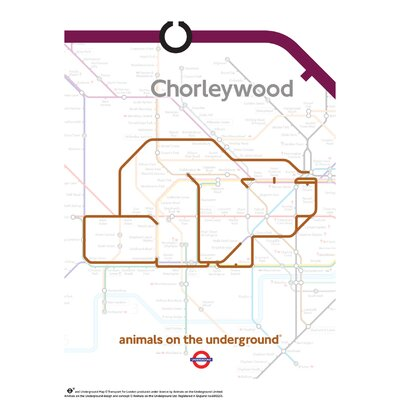 House Additions Animals on the Underground Chorleywood Graphic Art