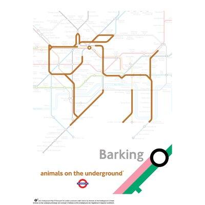 House Additions Animals on the Underground Barking Graphic Art