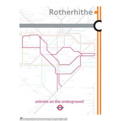 House Additions Animals on the Underground Rotherhithe Graphic Art