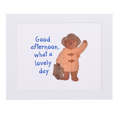 """House Additions Paddington Bear """"Good Afternoon What A Lovely Day"""" Art Print Plaque"""