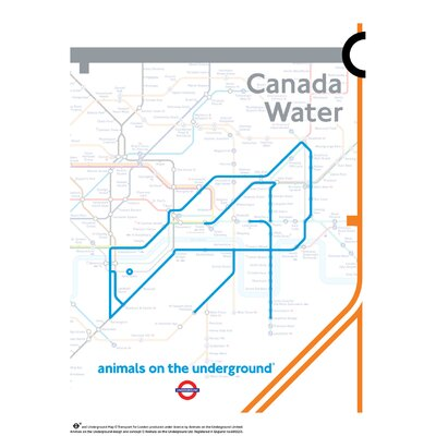 House Additions Animals on the Underground Canada Water Graphic Art