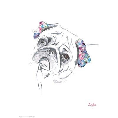 House Additions Dog Prints Pug Art Print