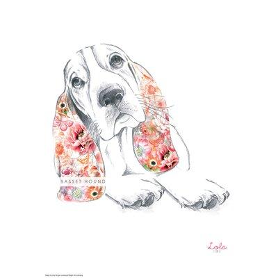 House Additions Dog Prints Basset Hound Art Print