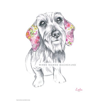 House Additions Dog Prints Wired Haired Dachshund Art Print
