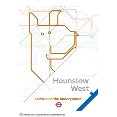 House Additions Animals on the Underground Hounslow West Graphic Art