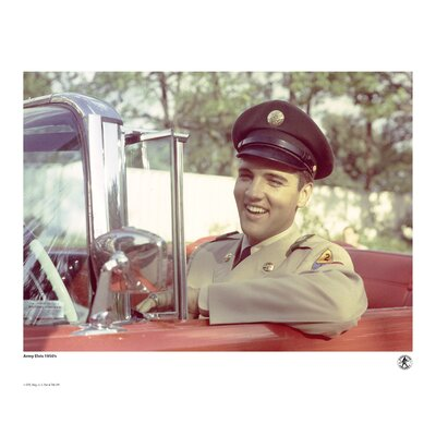 House Additions Elvis Presley 1950's Army Elvis Photographic Print
