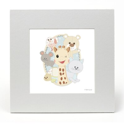 """House Additions Sophie La Girafe """"Sophie and Friends"""" Graphic Art"""