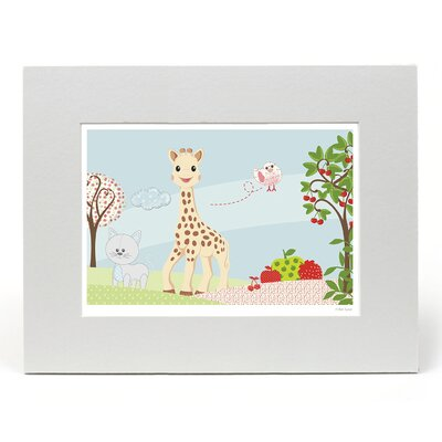 """House Additions Sophie La Girafe """"The Park"""" Graphic Art"""