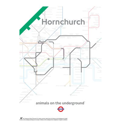 House Additions Animals on the Underground Hornchurch Graphic Art