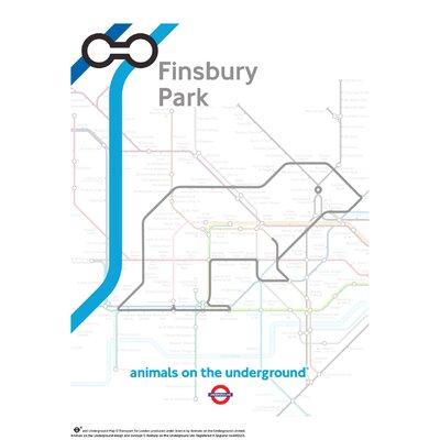 House Additions Animals on the Underground Finsbury Park Graphic Art