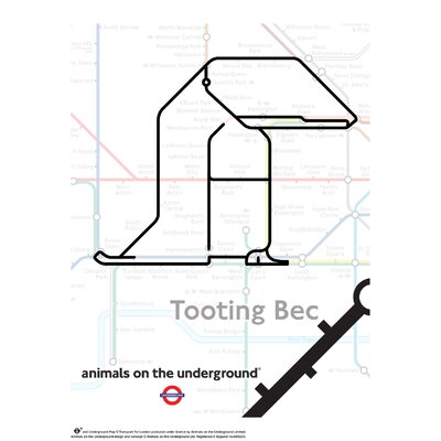 House Additions Animals on the Underground Tooting Bec Graphic Art