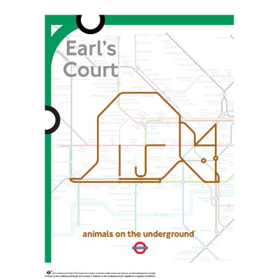 House Additions Animals on the Underground Earl's Court Graphic Art