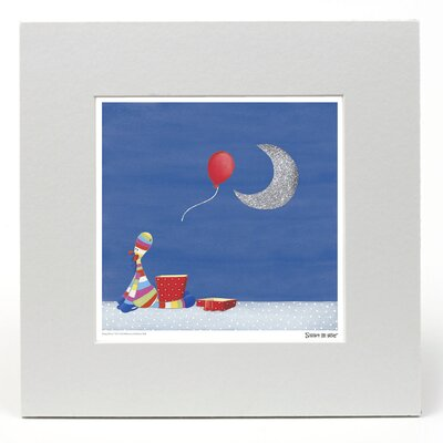 "House Additions Stripy Horse ""The Moon"" Graphic Art"