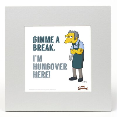 """House Additions The Simpsons """"Moe"""" Graphic Art"""