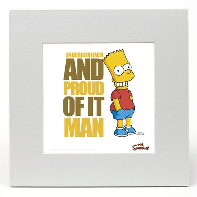 """House Additions The Simpsons """"Bart - Underachiever"""" Graphic Art"""