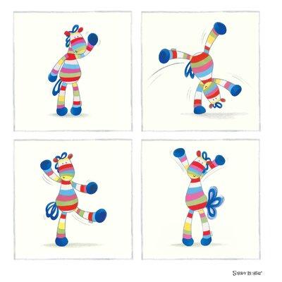 "House Additions Stripy Horse ""Cartwheel"" Graphic Art"