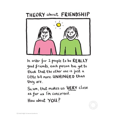 House Additions Edward Monkton Theory of Friendship Art Print