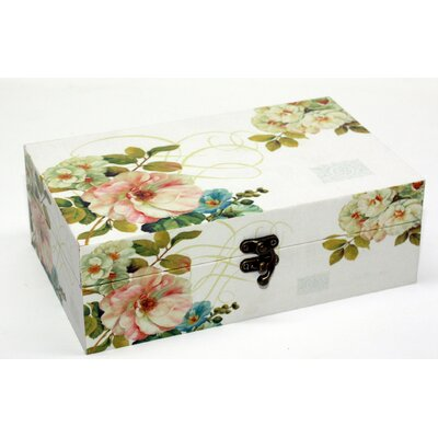 House Additions Floral Rectangular Box