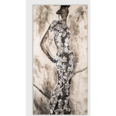 House Additions Lady Art Print on Canvas