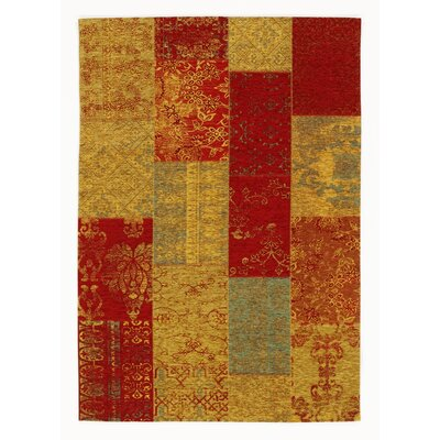 House Additions Rosmore Rug in Yellow/Red