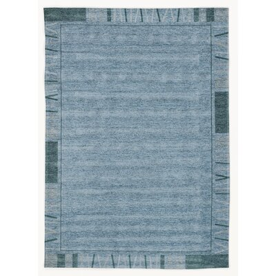 House Additions Rosmore Velour Turquoise Area Rug