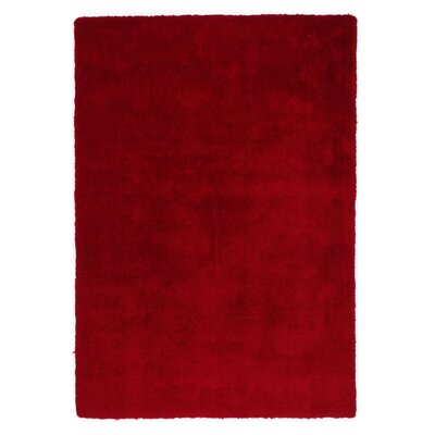 House Additions Hand-Tufted Red Area Rug