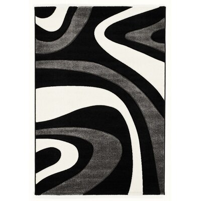 House Additions Black/Grey Area Rug