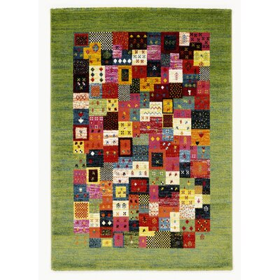 House Additions Bunt Green Area Rug