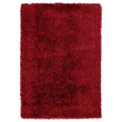 House Additions Handmade Dark Red Area Rug