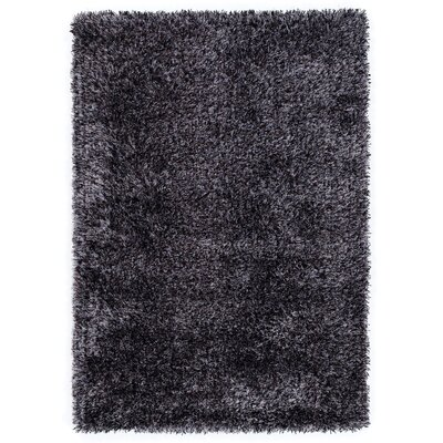 House Additions Handmade Black/Grey Area Rug