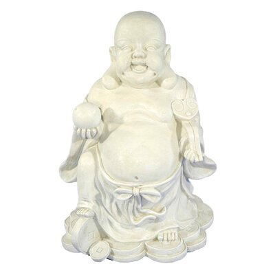 House Additions Tooma Buddha with Ball Decorative Figure