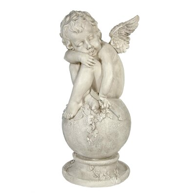 House Additions Cupid On Ball with Ivy Decorative Figure