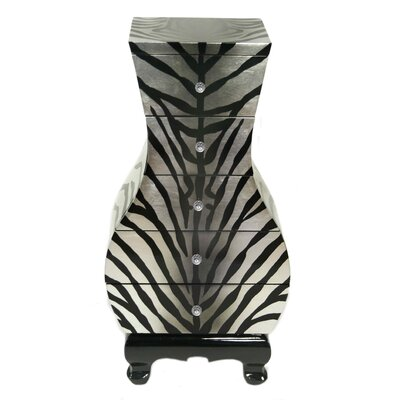 House Additions Zebra Chest of Drawers