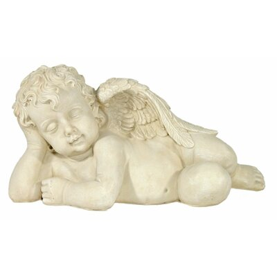 House Additions Angel Lying on Side with Head in Right Hand Decorative Figure