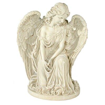 House Additions Praying Angel Kneeling on One Leg Decorative Figure