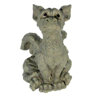 House Additions Sitting Dragon Looking Upward Decorative Figure