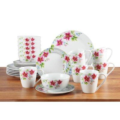House Additions Lily 24-Piece Dinnerware Set