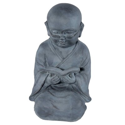 House Additions Reading Monk Decorative Figure