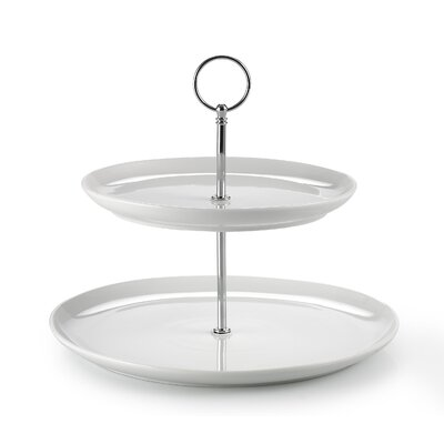House Additions Round 2-Tier Cake Stand