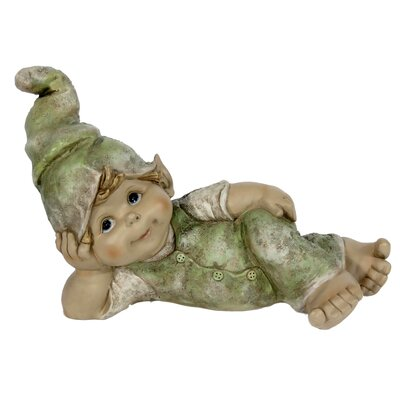 House Additions Gnome Boy Lying on Side with Head in Hand Decorative Figure