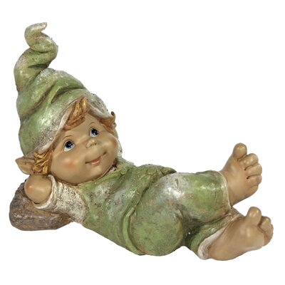 House Additions Lying Gnome Boy with Hands Behind Head Decorative Figure