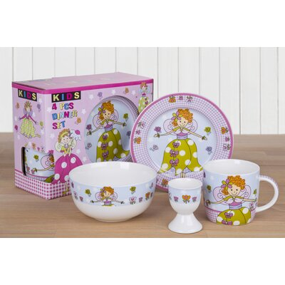 House Additions Fairy 4-Piece Tableware Set for Children