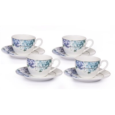 House Additions Blue Hydrangeas Cup Set