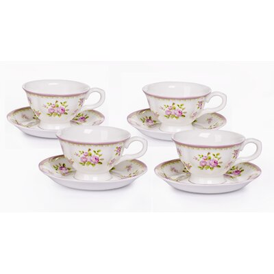 House Additions Vintage Rose Cup Set