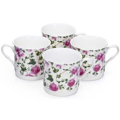 House Additions Pink Rose Teacup Set